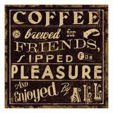 Coffee Quote II Giclée premium par Pela