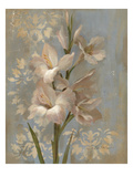 Gladiola on Soft Blue