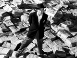 Citizen Kane  Orson Welles  1941  Astride Stacks Of Newspaper