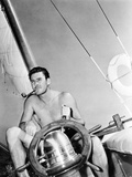 Errol Flynn Relaxing on His Yacht  October 20  1937