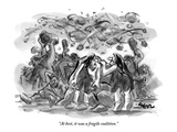 """""""At best  it was a fragile coalition"""" - New Yorker Cartoon"""