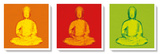 Buddha Popart Tableau multi toiles