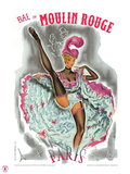 1962 Moulin Rouge cancan rose