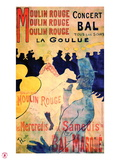 1891 Moulin Rouge La Goulue (3 bandes)