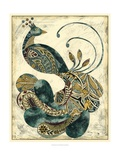 Paon royal I Reproduction d'art par Chariklia Zarris