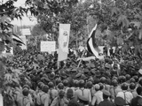 Iranian Demonstrators Protest Against the British Government in 1951