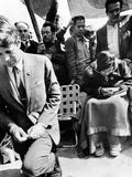 Sen Robert Kennedy Worships with Cesar Chavez