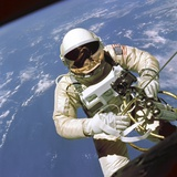 Astronaut Edward White Floats in Space