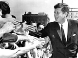 President John Kennedy Shakes Hands as He Arrives at Independence Hall  July 4  1962