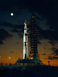 Test Flight of Giant Saturn V Rocket for Apollo 4 Mission at Kennedy Space Center  Nov 8  1967
