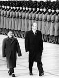 Pres Gerald Ford Walks with China's Vice Premier Deng Xiaoping During Visit to China  Dec 5  1975