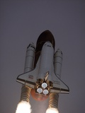 Space Shuttle Discovery Launched with Hubble Space Telescope in its Cargo Bay  April 24  1990