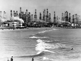 Venice Beach View of Oil Derricks