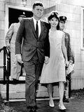 Pres and Jacqueline Kennedy Walk Hand-In-Hand after Death of Infant Son  Patrick Bouvier Kennedy