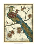 Embroidered Pheasant II Reproduction d'art par Chariklia Zarris