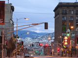 Main Street in Uptown Butte  Montana  USA at Dusk