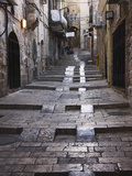 Ancient Street in the Old Town, Jerusalem, Israel Papier Photo par Keren Su
