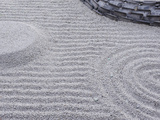Raked Sand Patterns  Kodai-Ji Temple  Kyoto  Japan