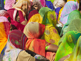 Women in Colorful Saris Gather Together  Jhalawar  Rajasthan  India