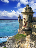 Watchtower  Fort San Felipe Del Morro  San Juan  Puerto Rico  USA  Caribbean