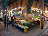 Street Market Vegetables  Hong Kong  China
