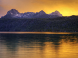 Redfish Lake  Sawtooth National Recreation Area  Idaho  USA