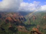 Rainbow over Waimea Canyon  Kauai  Hawaii  USA