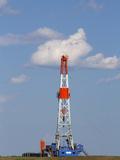Patterson Uti Oil Drilling Rig Along Highway 200 West of Killdeer  North Dakota  USA
