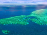 Aerial View of the Great Barrier Reef  Queensland  Australia