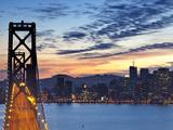 The Bay Bridge from Treasure Island in San Francisco  California  USA