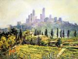 Impressionistic Painting  San Gimignano  Italy