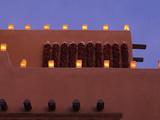 Farolitos  Santa Fe  New Mexico  USA