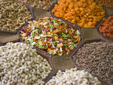 Selling Nuts and Dried Fruit at the Market  Dubai  United Arab Emirates
