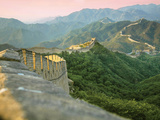 Sunrise over the Mutianyu Section of the Great Wall  Huairou County  China