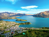 View Towards Queenstown  South Island  New Zealand