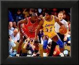 Michael Jordan & Magic Johnson 1990 Action
