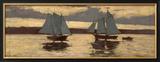 Gloucester  Mackerel Fleet at Sunset  c1884