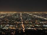 Los Angeles at Night  Los Angeles  California  United States of America  North America