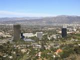 San Fernando Valley  San Gabriel Mountains  Burbank  Los Angeles  California  USA  North America