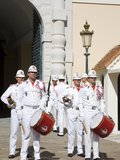 Changing of the Guard at the Princes Palace  Monte Carlo  Monaco  Europe