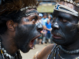 Local Tribes Celebrating Traditional Sing Sing  Highlands  Papua New Guinea  Pacific