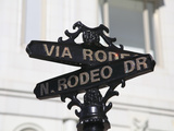 Street Sign  Rodeo Drive  Beverly Hills  Los Angeles  California  Usa