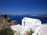 Church at Imerovigli  Santorini  Cyclades  Greek Islands  Greece  Europe