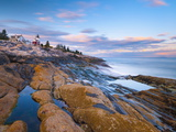Pemaquid Point Lighthouse  Pemaquid Peninsula  Maine  New England  USA  North America