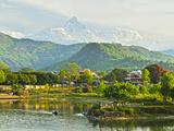 Annapurna Himal  Machapuchare and Phewa Tal Seen from Pokhara  Gandaki Zone  Western Region  Nepal