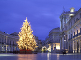Duomo Square at Christmas  Ortygia  Siracusa  Sicily  Italy  Europe
