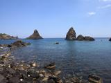 Faraglioni  Acitrezza  Catania Province  Sicily  Italy  Mediterranean  Europe
