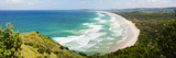 Panoramic Aerial View of Tallow Beach at Byron Bay  New South Wales  Australia  Pacific