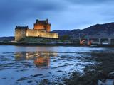 Eilean Donan (Eilean Donnan) Castle Illuminated  Dornie  Loch Duich  Highlands Region  Scotland
