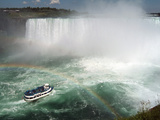 Maid of the Mist Boat Ride  at the Base of Niagara Falls  Canadian Side  Ontario  Canada